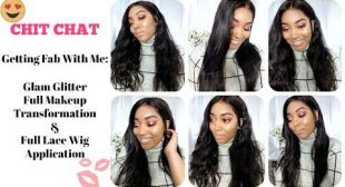 HEYYY 2018! Chit Chat Getting Fab With Me Full Makeup Transformation & Full Lace Wig Application
