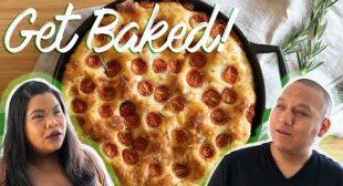 No-Knead Cheesy Tomato Bread   Get Baked