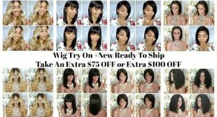 Wig Try On: READY TO SHIP $75 OFF & $100 OFF NOW