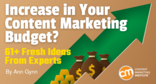 Increase in Your Content Marketing Budget? 61+ Fresh Ideas From Experts