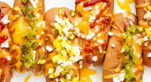 Cheesy Baked Hot Dogs