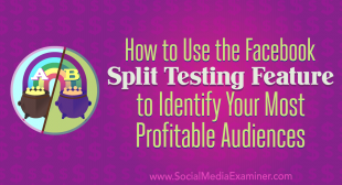 How to Use the Facebook Split Testing Feature to Identify Your Most Profitable Audiences