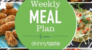 Skinnytaste Meal Plan (October 22-October 28)