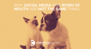 Why Social Media and Word of Mouth Are Not the Same Thing
