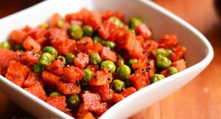 Gajar matar sabzi recipe, carrot peas sabji