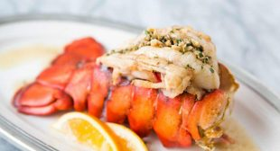 Broiled Lobster Tail with Brown Butter Sauce