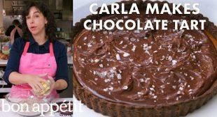 Carla Makes a Salted Caramel-Chocolate Tart | From the Test Kitchen | Bon Appétit