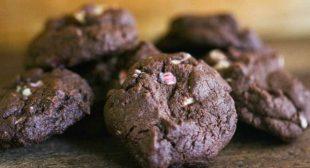 Peppermint Bark Chocolate Cookies