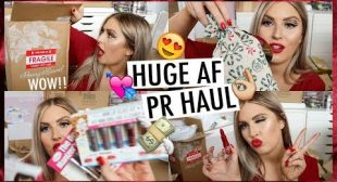 PR Unboxing Haul & Giveaway! 🎁💕 Christmas Gifts & NEW Makeup!