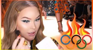 THE OLYMPICS OF MAKEUP: Backstage at VERSACE!