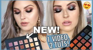 TWO Makeup Tutorials! 💕 HUGE Affordable Eyeshadow Palette Haul & Swatches!