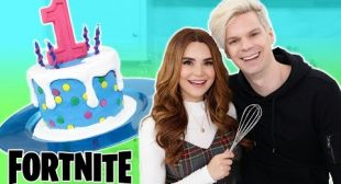 Baking With My Boyfriend! – FORTNITE Cake – NERDY NUMMIES