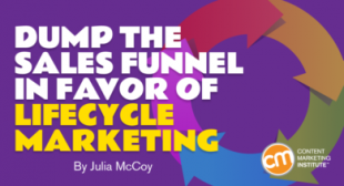 Dump the Sales Funnel in Favor of Lifecycle Marketing