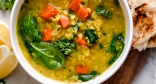 Red Lentil Soup with Spinach