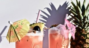 A Galentine's Day Cocktail: The Pink Lady Colada