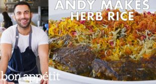 Andy Makes Herb Rice with Scallions and Saffron   From the Test Kitchen   Bon Appétit