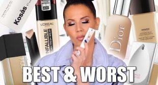 BEST & WORST FOUNDATIONS | Luxury & Drugstore