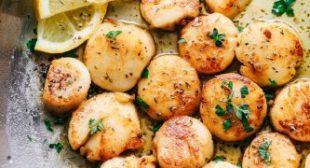 Garlic Butter Herb Scallops