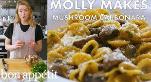 Molly Makes Mushroom Carbonara | From the Test Kitchen | Bon Appétit