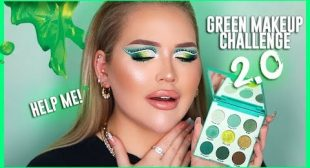 The ULTIMATE Green Look! GREEN MAKEUP CHALLENGE 2.0
