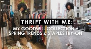 THRIFT WITH ME: Goodwill Collection + Spring Trends & Try On Haul
