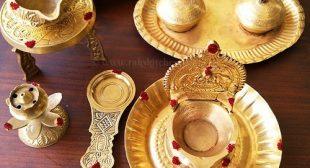 Cleaning brass pooja items, vilakku
