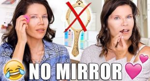 DOING OUR MAKEUP WITH NO MIRRORS …