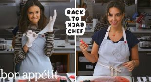 Nina Dobrev Tries to Keep Up with a Professional Chef   Back-to-Back Chef   Bon Appétit