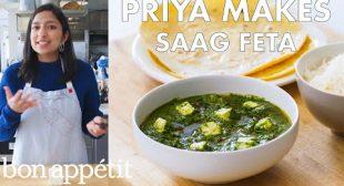 Priya Makes Saag Feta | From the Test Kitchen | Bon Appétit
