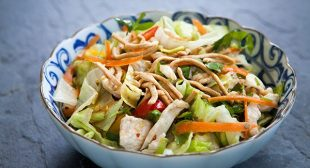 Easy Chinese Chicken Salad with Chow Mein Noodles