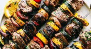 Grilled Tuscan Pork Skewers