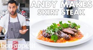 Andy Makes Skirt Steak with Romesco Sauce | From the Test Kitchen | Bon Appétit
