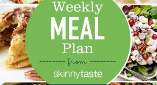 Skinnytaste Meal Plan (January 20-January 26)