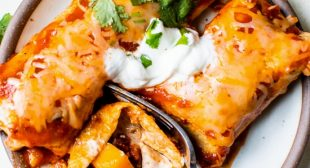 Vegetarian Enchiladas with Butternut Squash and Black Beans