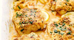 Baked Cajun Garlic Butter Cod