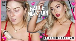 RED HOT DATE NIGHT ❤️ Hair & Makeup Tutorial for Valentines Day!