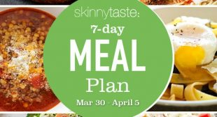 7-Day Healthy Meal Plan (March 30-April 5)