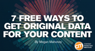 7 Free Ways to Get Original Data for Your Content
