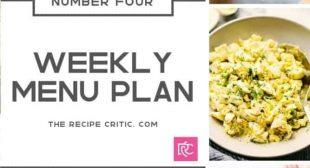 Weekly Menu Plan {Number 4}