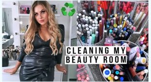 clean my BEAUTY ROOM with me! ♻️ organising & decluttering my makeup & junk! 😍