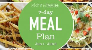 7 Day Healthy Meal Plan (June 1-6)