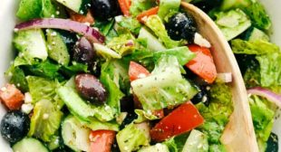 Greek Salad with the BEST Dressing
