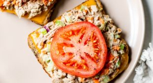 Open-Faced Tuna Melt Sandwich Recipe