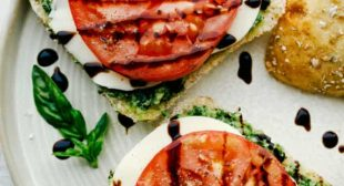 Caprese Sandwich with Basil Pesto