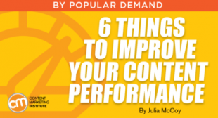 6 Things to Improve Your Content Performance