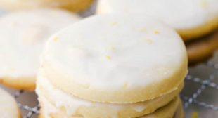 Buttery Lemon Shortbread Cookies with a Glaze