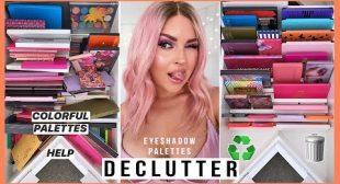 COLORFUL Eyeshadow Palette Declutter ♻️💕 HUGE MAKEUP ORGANISATION 2020