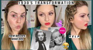 *decades series* 💕 1930s Makeup Look 💃 fail.. my hair… i can't
