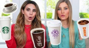 BLIND COFFEE TASTE TEST CHALLENGE! /w iJustine!