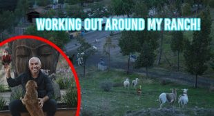How Cesar Millan exercises at his ranch!